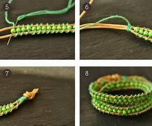 Comment Faire Un Bracelet En Perle : comment faire un bracelet de perles et cordon de cuir la maison diy ~ Melissatoandfro.com Idées de Décoration