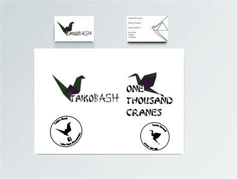 designed  origami crane logo graphics   colours