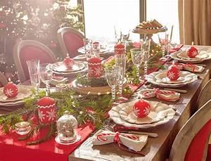 Idee Deco De Table Noel : decoration table noel rouge et gris ~ Zukunftsfamilie.com Idées de Décoration