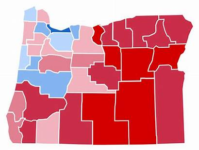 Oregon Election Presidential Results Svg County Politics