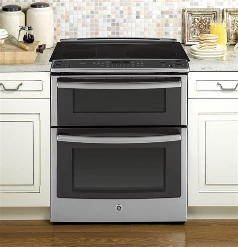 in the range from ge profile series 30 quot slide in oven electric convection range ps950sfss ge appliances