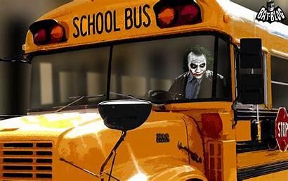Bus Dark Knight Wallpapers Batman Joker Ground