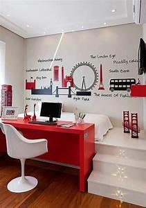 1001 idees comment amenager une petite chambre mini espaces With bureau pour petite chambre
