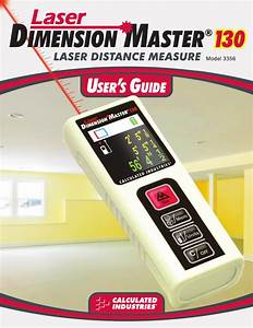 Calculated Industries 3356 Laser Dimension Master 130 User