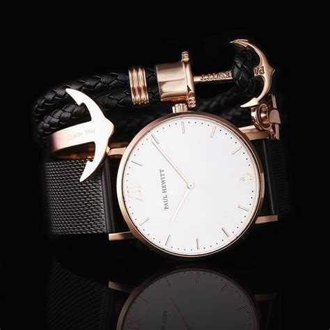 Ankerarmreif Ancuff Rosgold Edelstahl Paul Hewitt Mode Uhren Damen Paul Hewitt Armband