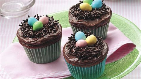 easter birds nest cupcakes recipe  pillsburycom
