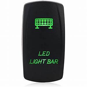5 Pin Led Light Bar Illuminated Rocker Toggle Switch