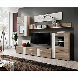 Meuble Design Tv Mural : meuble tv mural design aleppo 240cm ch ne blanc ~ Teatrodelosmanantiales.com Idées de Décoration