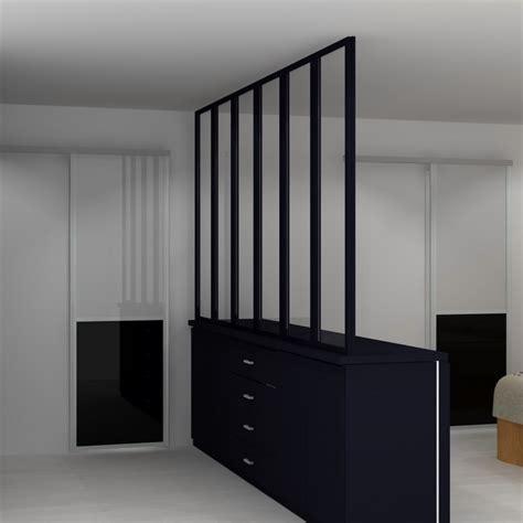 separation salon chambre verrière style atelier sur mesure séparation de pièce