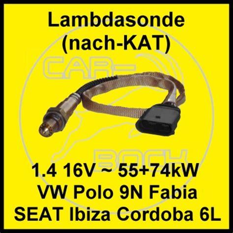lambdasonde nach vw polo 9n seat ibiza 6l skoda fabia 1 4 16v 55 74kw ebay