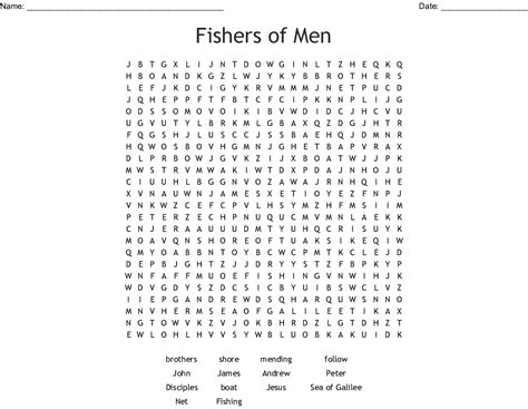 fishers  men word search wordmint