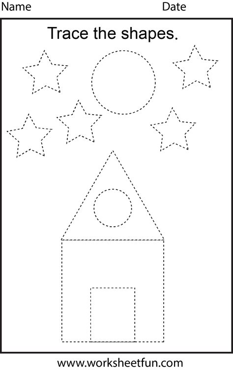 picture tracing  worksheet  printable worksheets