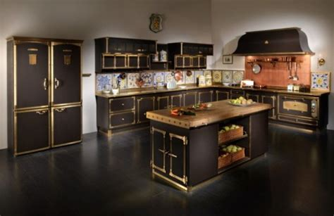 cucina kitchen faucets luxurious vintage style kitchen in coffee and gold colors