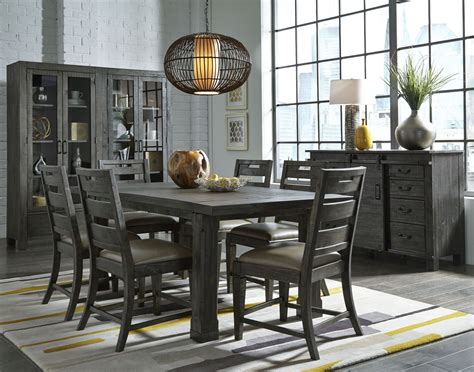 Abington Weathered Charcoal Rectangular Dining Room Set