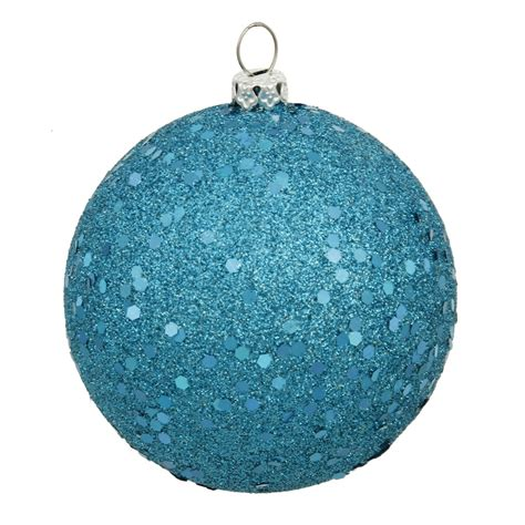 vickerman 20706 10 quot turquoise sequin ball christmas tree