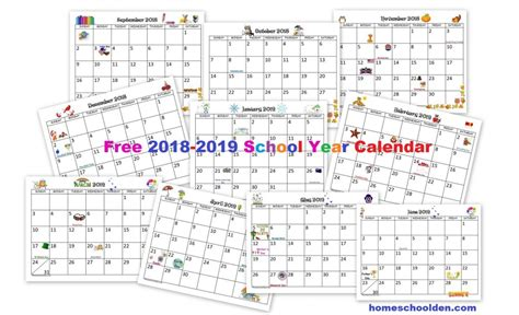 calendar printable homeschool den