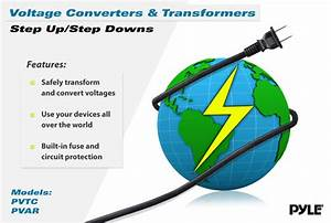 New Pyle Pvtc2020 Step Up  U0026 Down 2000w Voltage Converter