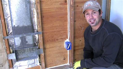 how to install insulation around electrical outlets and light switches