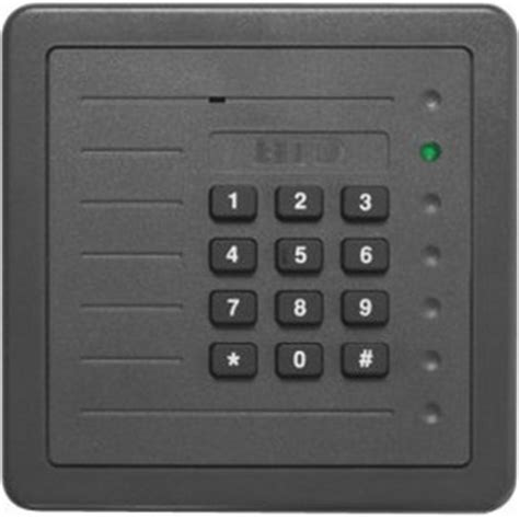 hid 5355abk00 proxpro 5355 125 khz wall switch wiegand keypad proximity card reader