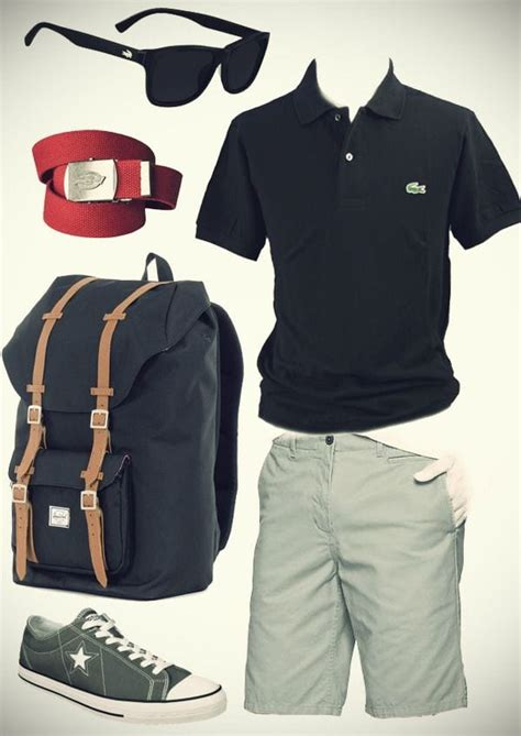summer travelling outfit ideas  men travel style