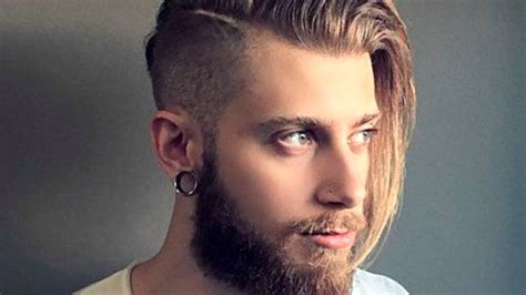 mens long hair   undercut youtube