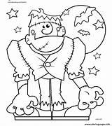Coloring Halloween Monster Printable Spooky Sheets Tree Preschoolers Getcolorings Getdrawings Template Col sketch template