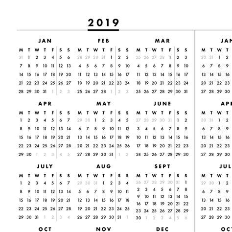 glance page printable calendar monday cb telemann
