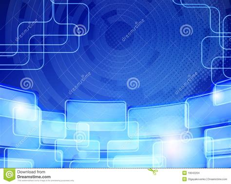 abstract blue techno background card design stock images