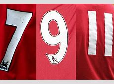 Manchester United Jersey Numbers Kit