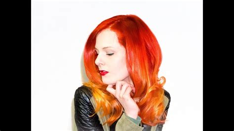 fire ombre color melting technique hair trends youtube