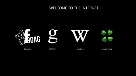 Facebook internet google wikipedia reddit logos black