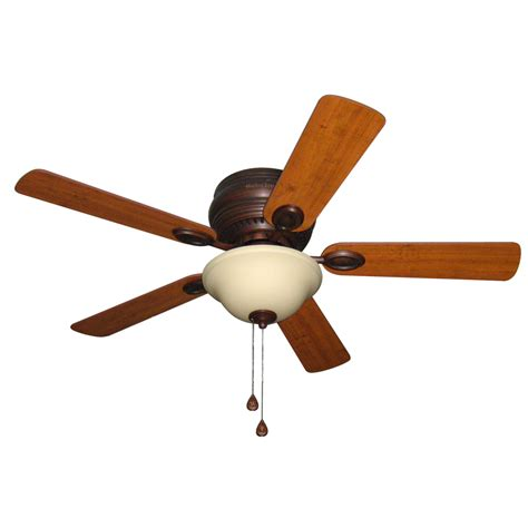 flush ceiling fan with light shop harbor breeze mayfield 44 in antique bronze indoor