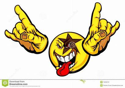 Rock Smiley Face Star Emoticon Cartoon Emoticons