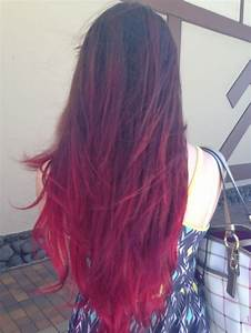 Ombre Hair Red Purple - Impression Hair Style
