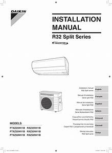 Daikin Ftxz35nv1b Installation Manual