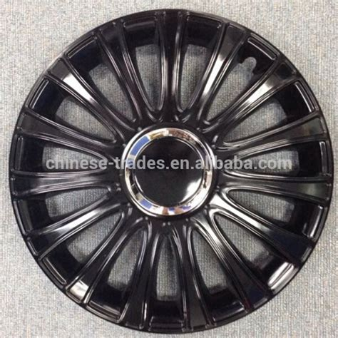 black silver wheel cover kt104mbks 13 quot 15 quot silver painting black with chrome ring plastic car