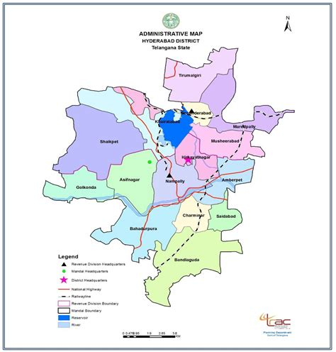 map  district hyderabad district government