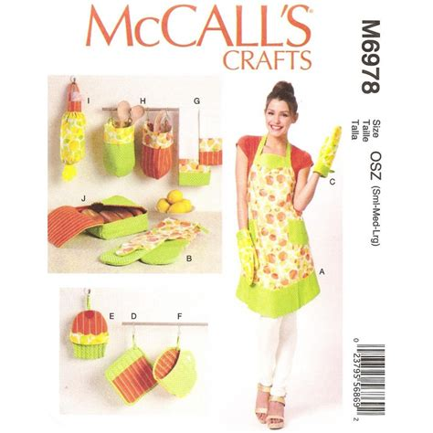 patron tablier de cuisine patron tablier accessoires cuisine mccall 39 s m6978
