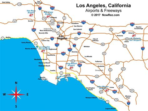 los angeles freeway map city sightseeing tours
