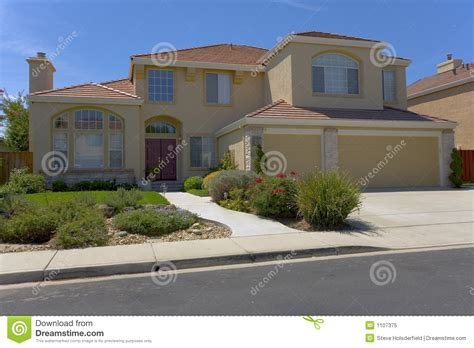 Contemporary Two Story Stucco Home Stock Image Image Make Your Own Beautiful  HD Wallpapers, Images Over 1000+ [ralydesign.ml]