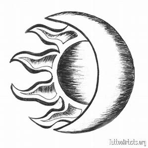 Tribal Moon Sun Tattoo Drawing | Ideas Tattoo Collection