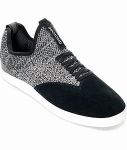 Diamond Supply Co. All Day Black & White Knit & Suede ...