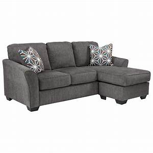 Benchcraft brise 8410268 casual contemporary queen sofa for Sectional sofa with recliner and queen sleeper