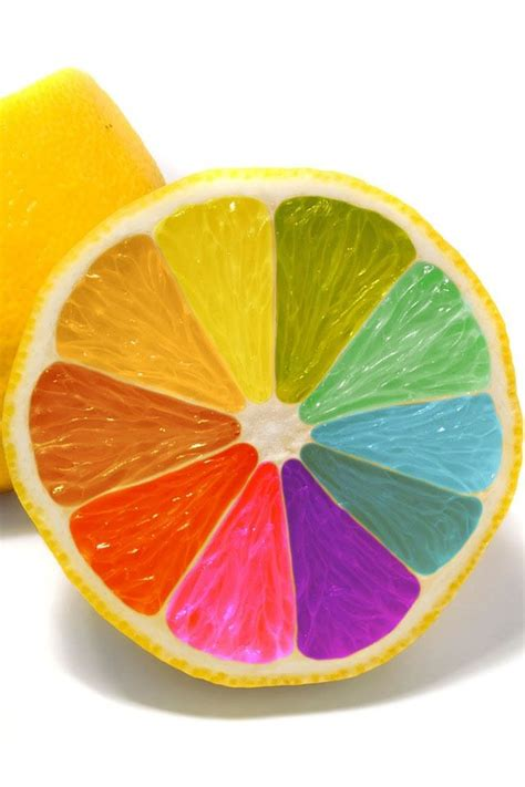 lemon color when you lemons paint them rainbow colored