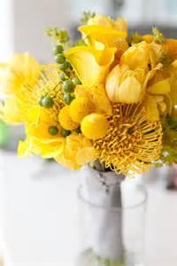 Yellow Flower Wedding Bouquet