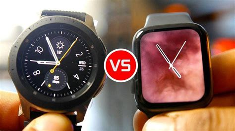 The company's first wear os 3 smartwatches will be a part. Samsung Galaxy Watch vs. Apple Watch 4: Die Smartwatches ...