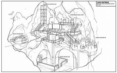 Batcave Gotham Map Batman Lego Architecture Historian