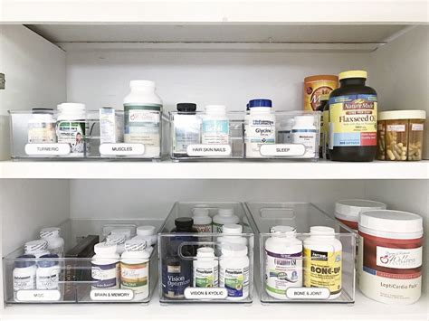 Simply Done Simply Organized Vitamins And Supplements