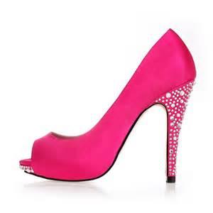 designer high heel high heel peep toe rhinestone designer prom shoes flowerweddingshoes