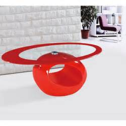 Oval Gloss Coffee Table